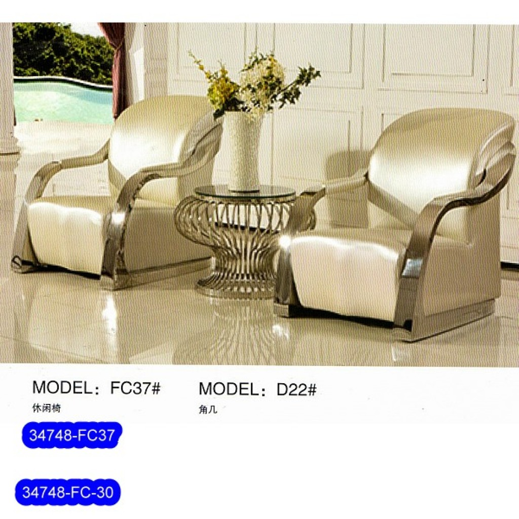 34748-FC37 Stainless Steel Sofa Set