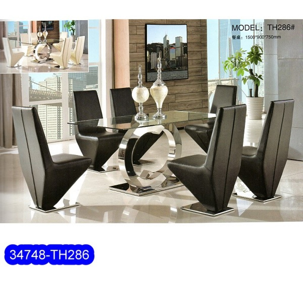 34748-TH-286 Stainless Dining Set