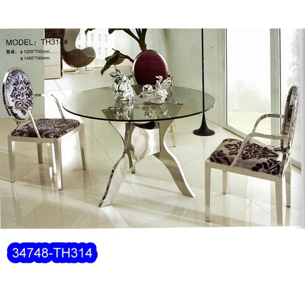 34748-314 Stainless Dining Set