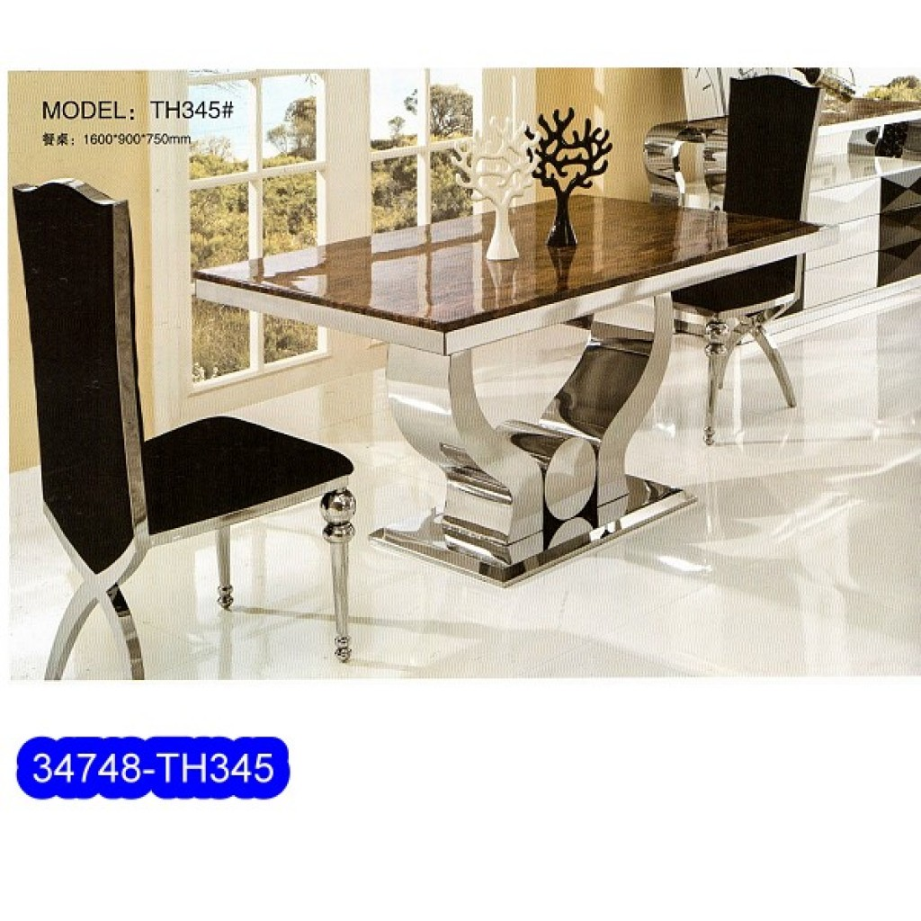 34748-TH-345 Stainless Dining Set