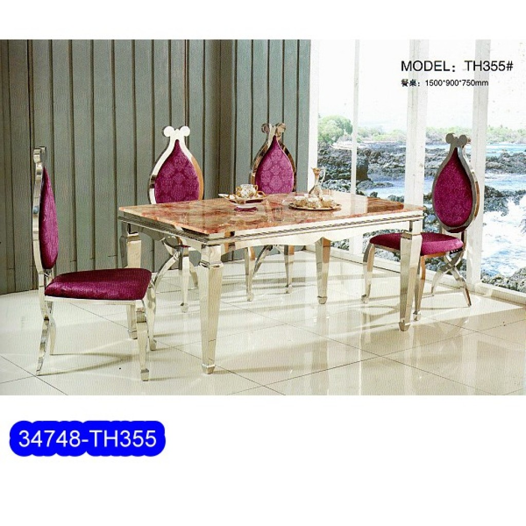 34748-TH-355 Stainless Dining Set