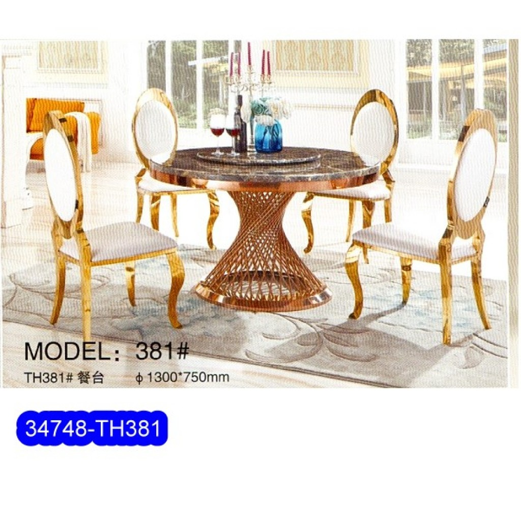 34748-TH-381  Stainless Dining Set