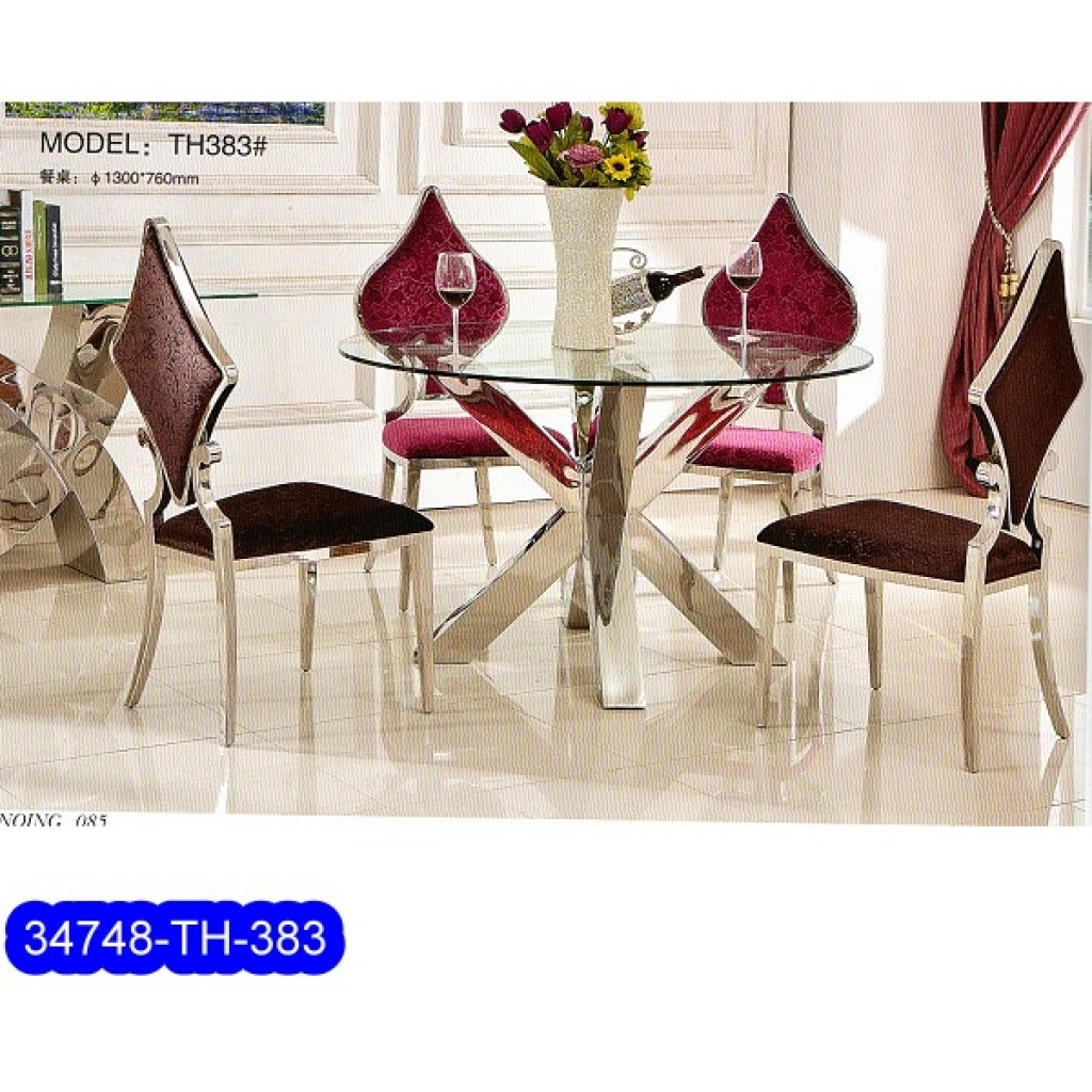 34748-383 Stainless Dining Set