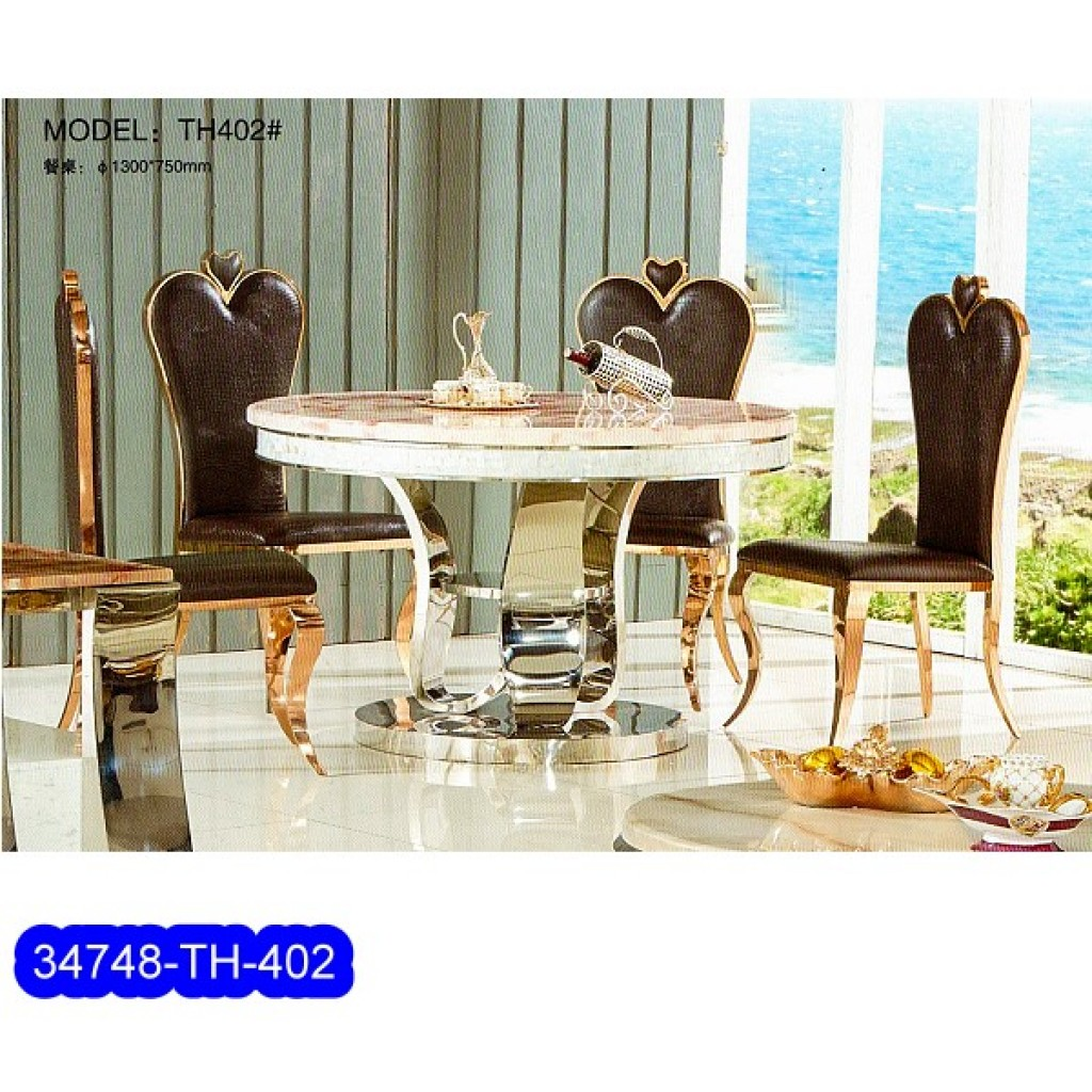34748-TH-402 Stainless Dining Set