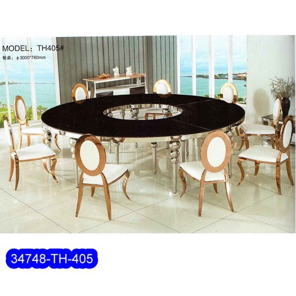 34748-TH-405 Stainless Dining Set