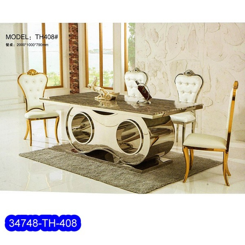 34748-TH-408 Stainless Dining Set