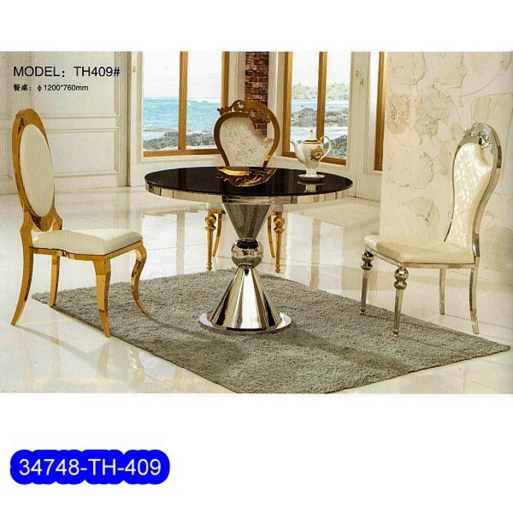 34748-TH-409 Stainless Dining Set