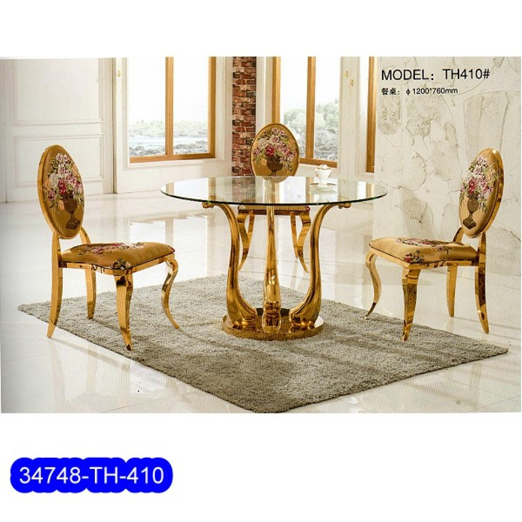 34748-TH-410 Stainless Dining Set