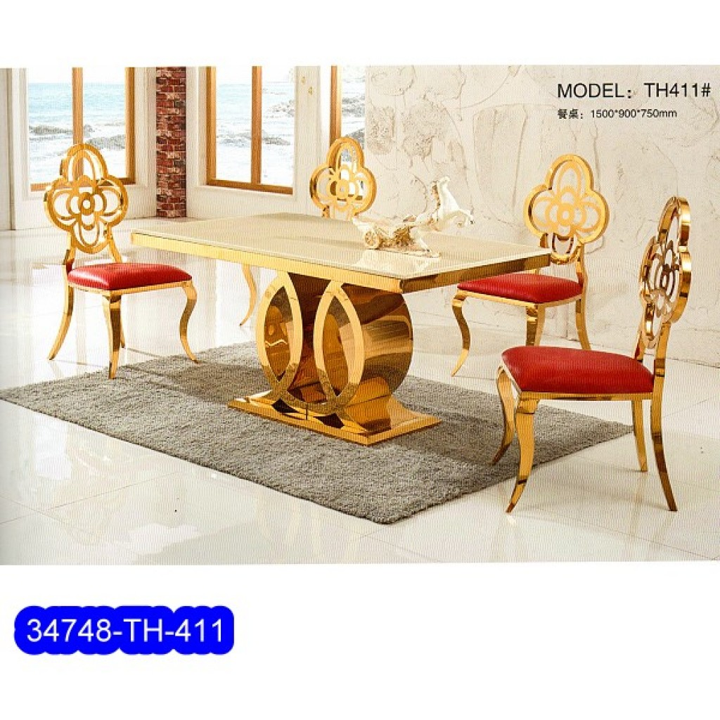 34748-TH-411 Stainless Dining Set