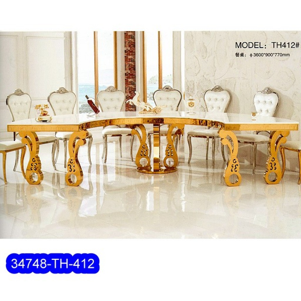 34748-TH-412 Stainless Dining Set