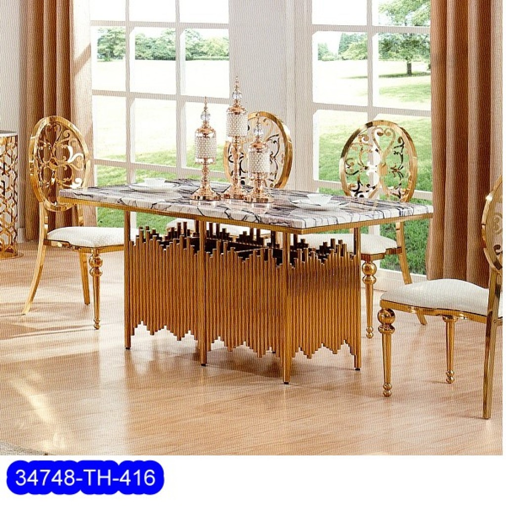 34748-TH-416 Stainless Dining Set