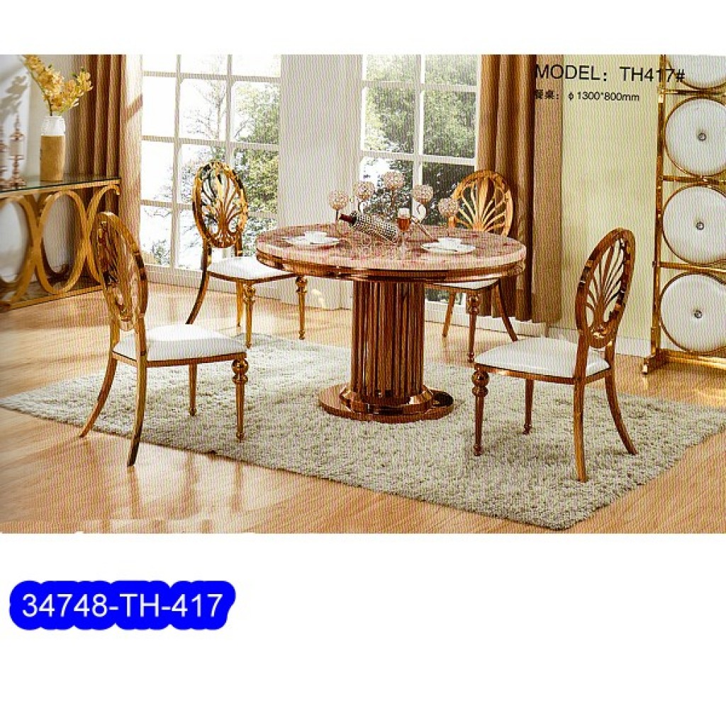 34748-TH-417 Stainless Dining Set