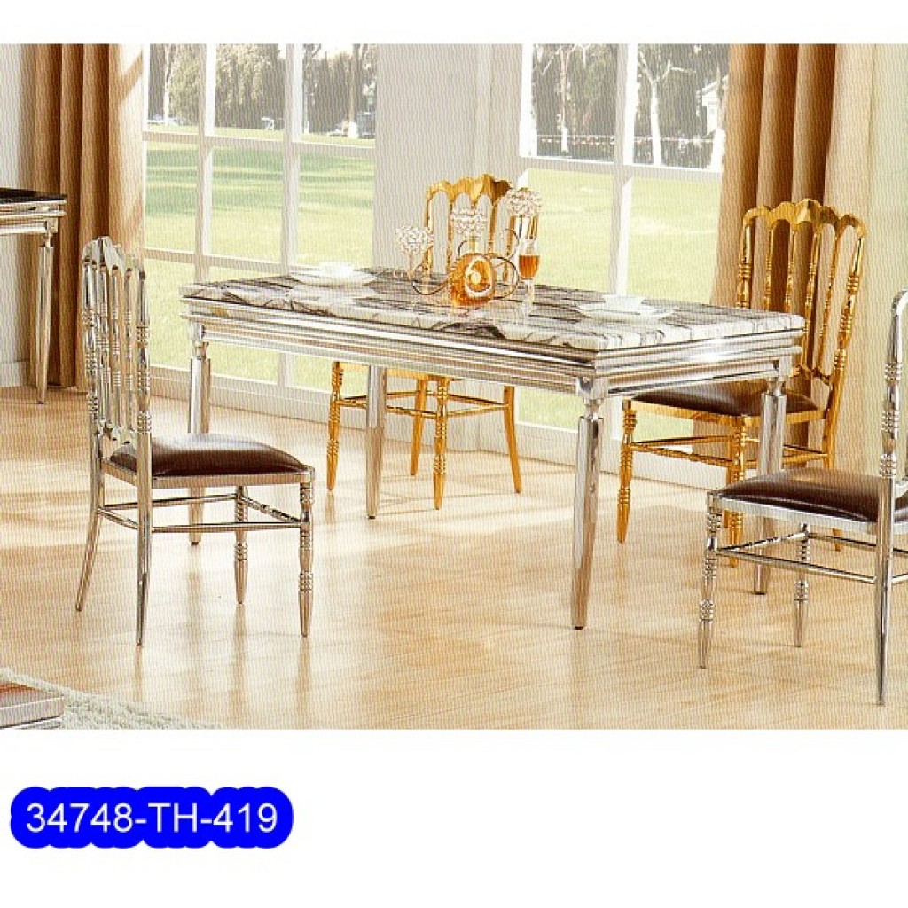 34748-TH-419 Stainless Dining Set