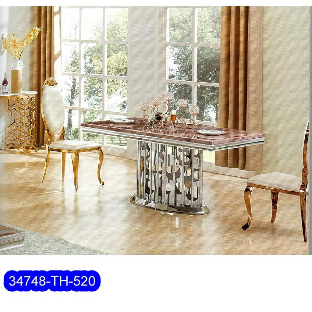 34748-TH-520 Stainless Dining Set