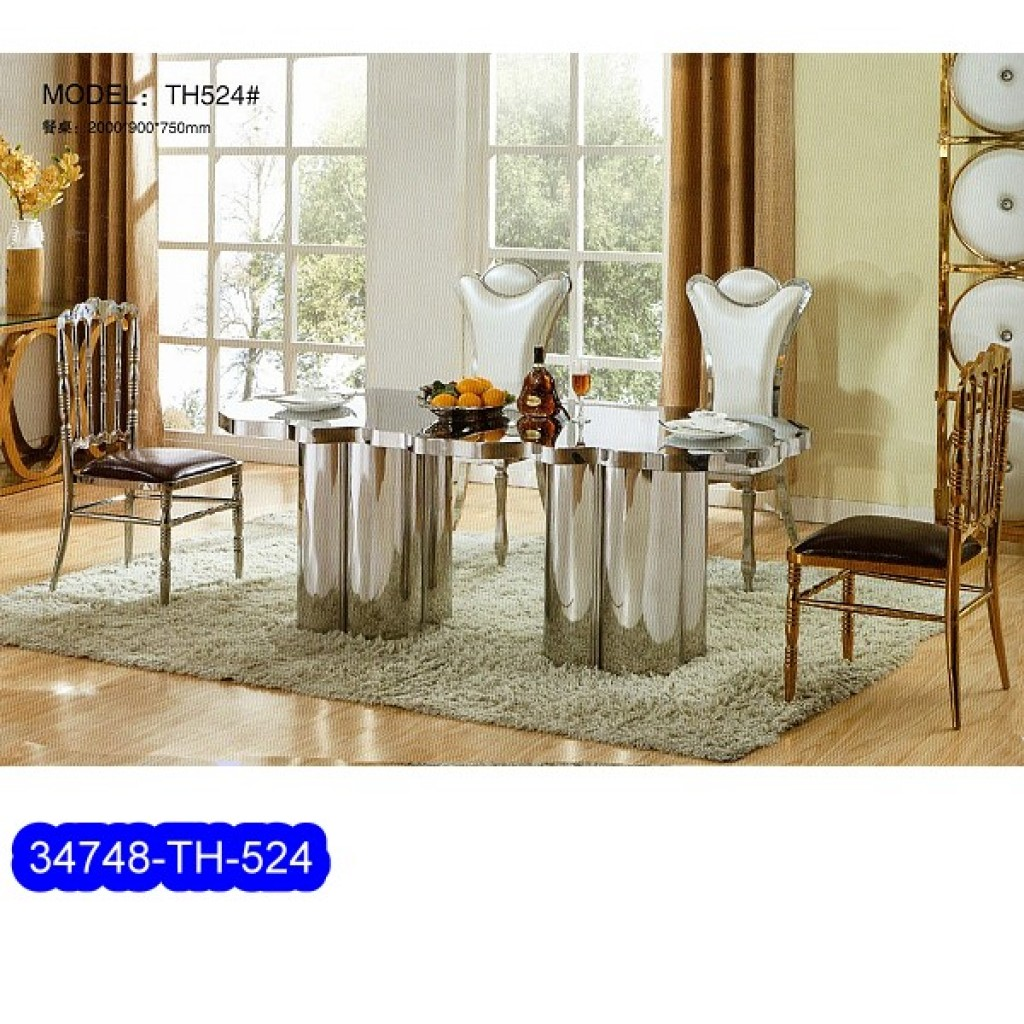 34748-TH-524 Stainless Dining Set