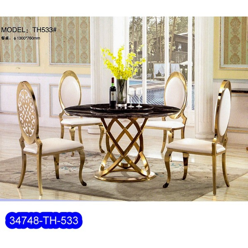 34748-TH-533 Stainless Dining Set