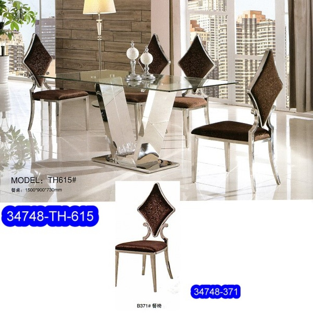 34748-TH-615 Stainless Dining Set