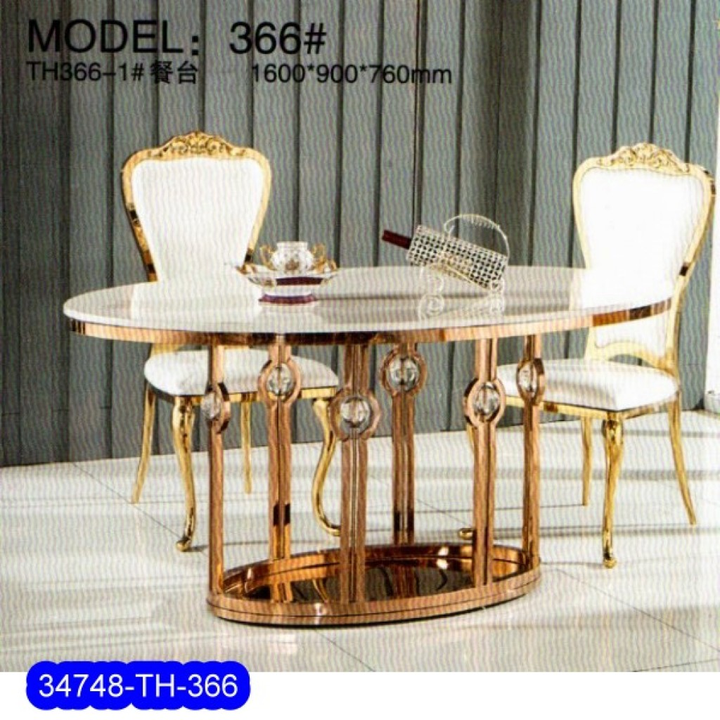 34748-TH-366 Stainless Dining Set
