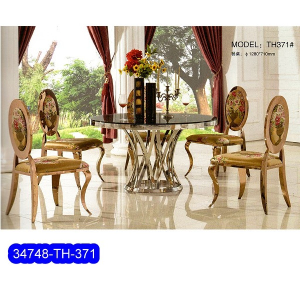 34748-TH-371 Stainless Dining Set