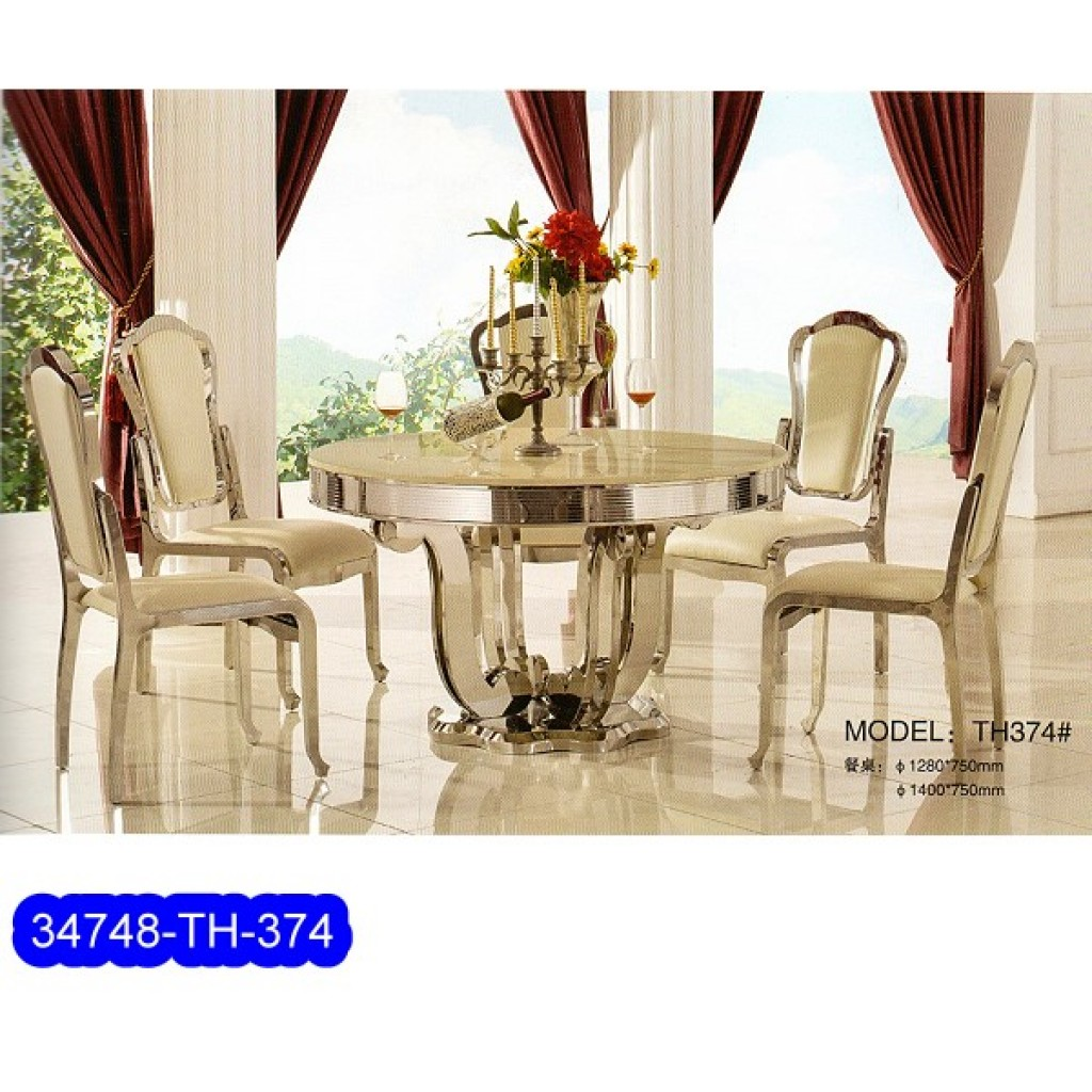 34748-TH-374  Stainless Dining Set