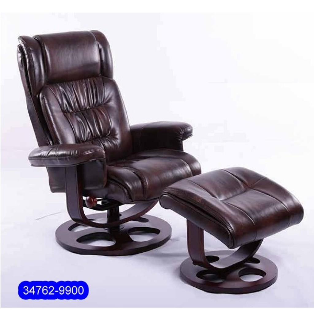 34762-9900 Leather Recliner Sofa & Ottoman
