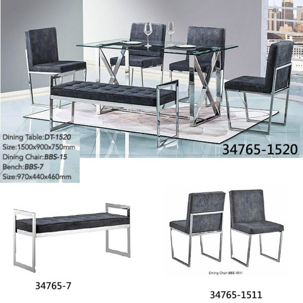 34748-DT-1520 Stainless Dining Set