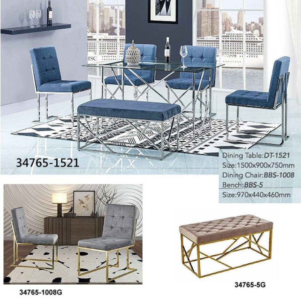 34748-DT-1521 Stainless Dining Set