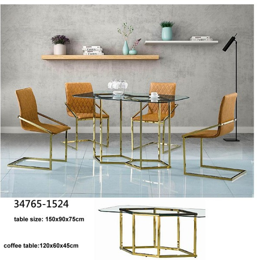 34748-DT-1524 Stainless Dining Set