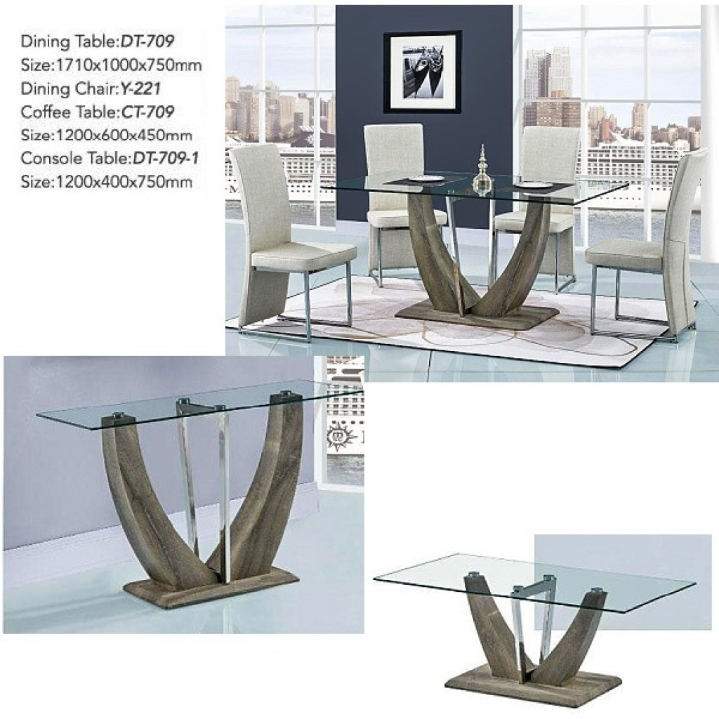 34748-DT-709 Stainless Dining Set