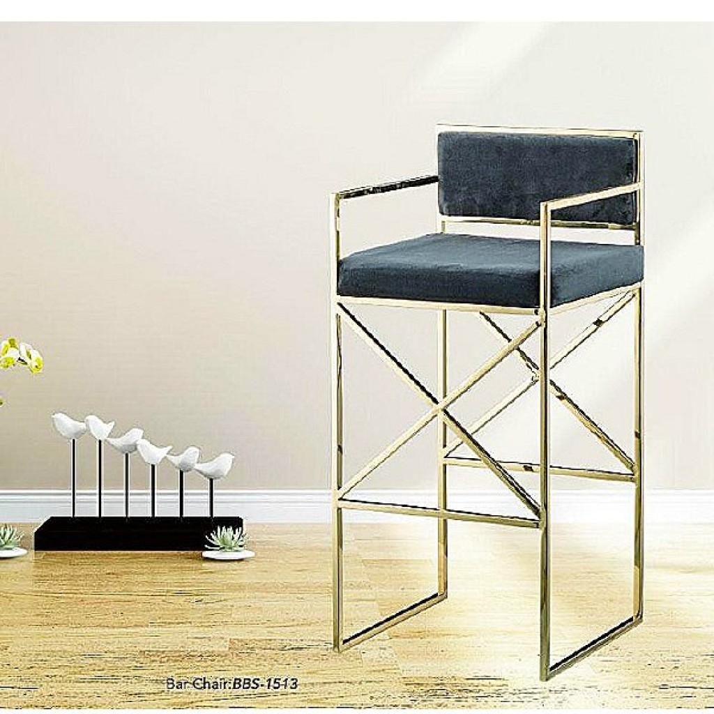 34765-BBS-1513 Stainless Bar Chair