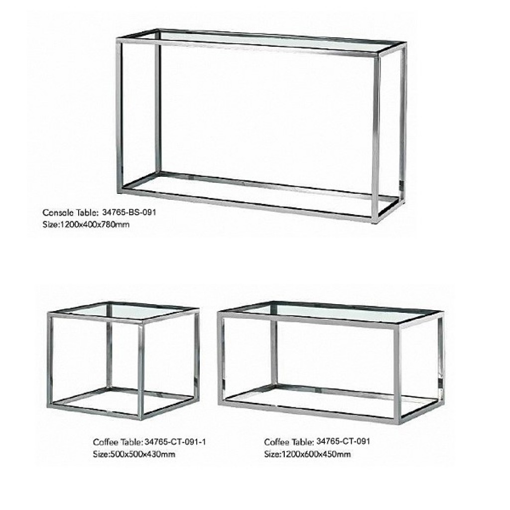 34765-BS-091 Stainless Coffee Table