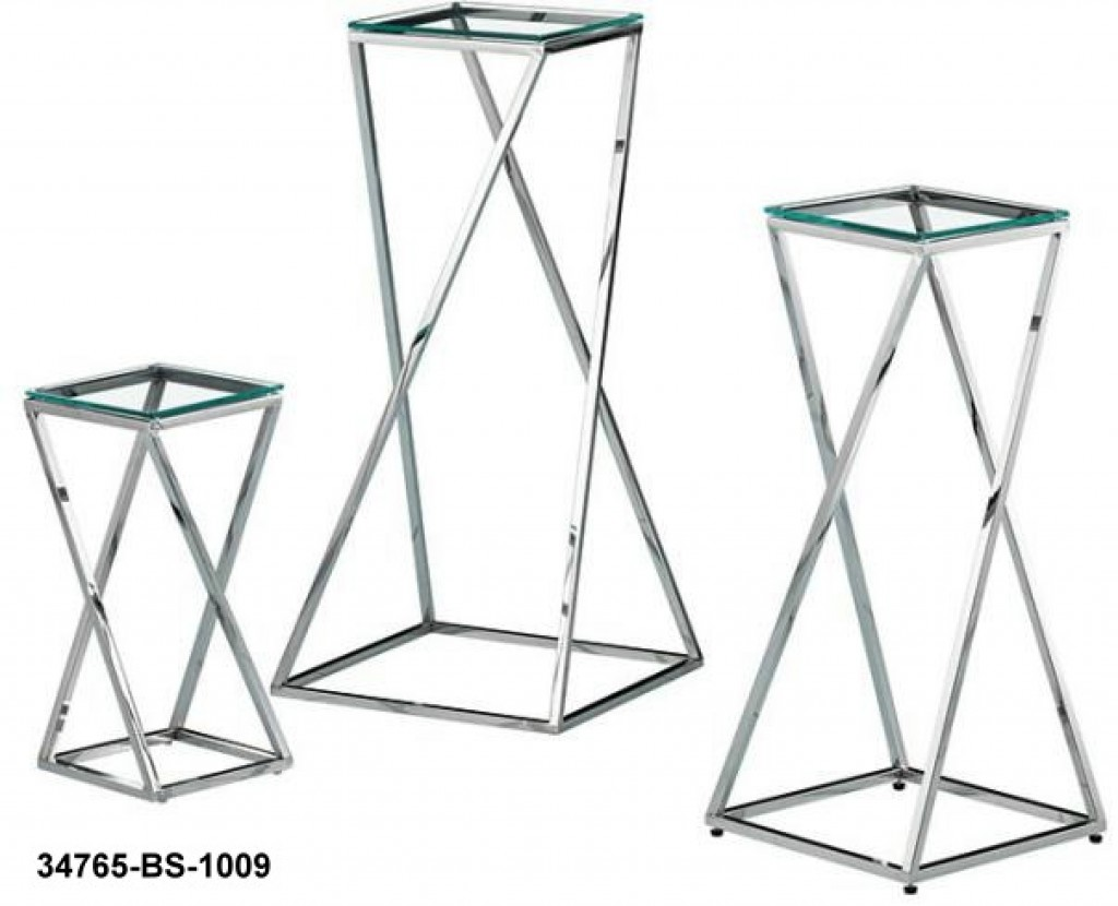 34765-BS-1009 stainless steel coffee table set