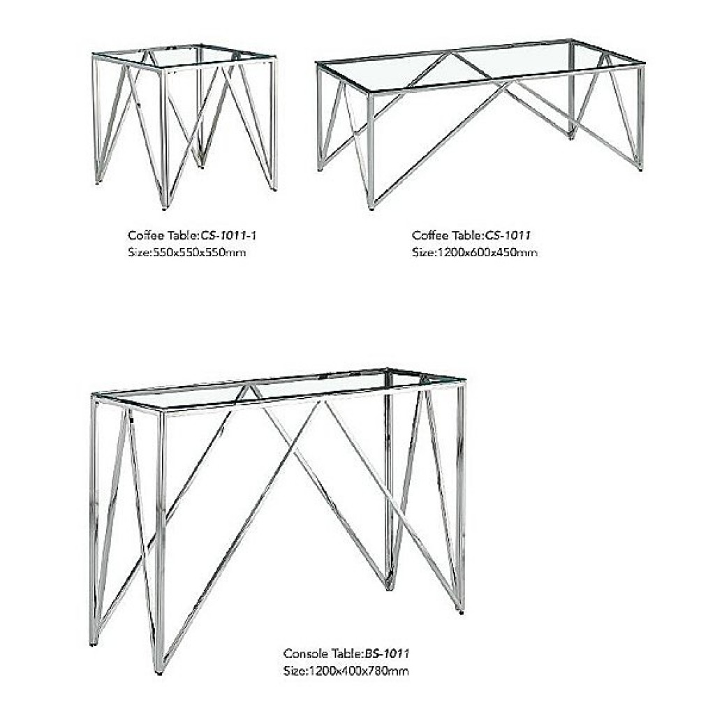 34765-BS-1011 Stainless Console Table