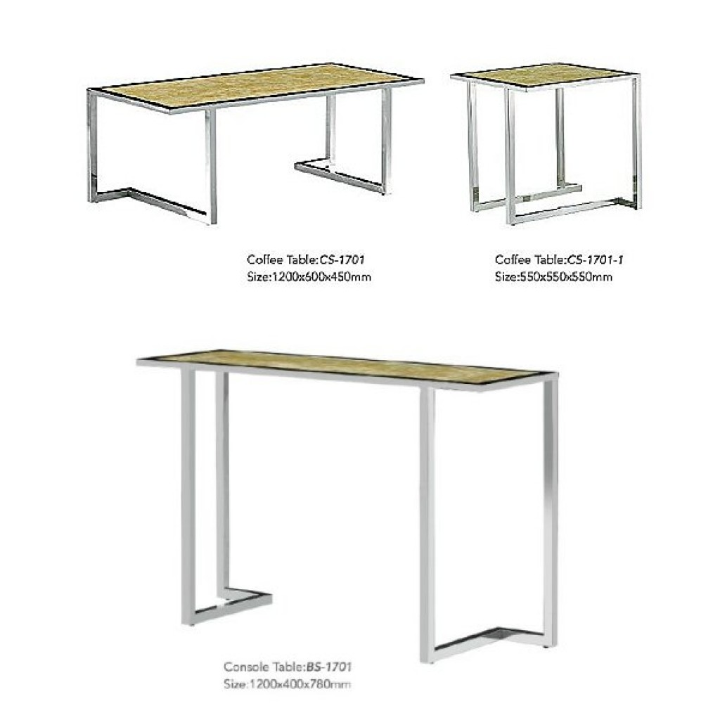 34765-BS-1701 Stainless Console Table