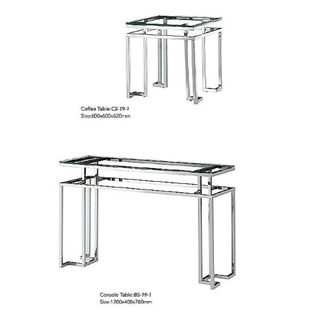 34765-BS-19-1 Stainless Console Table