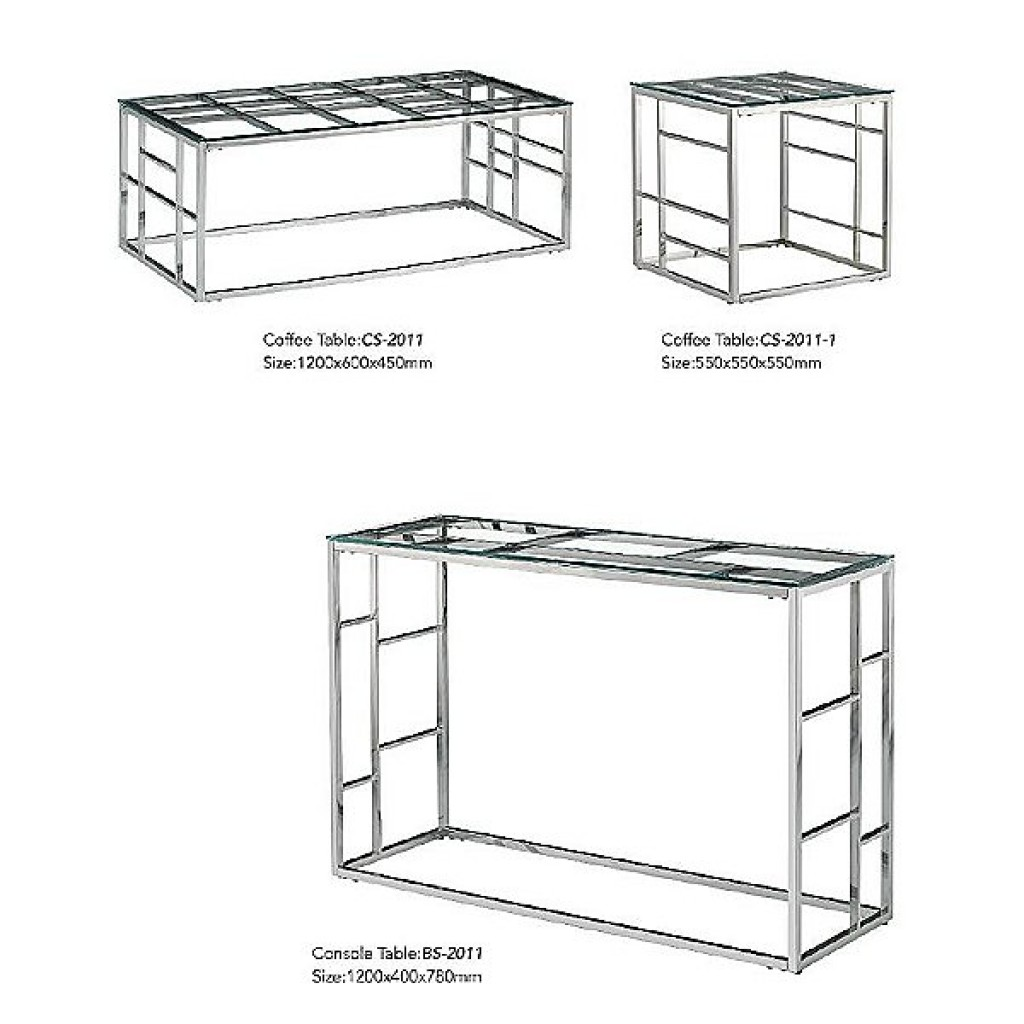 34765-BS-2011 Stainless Console Table