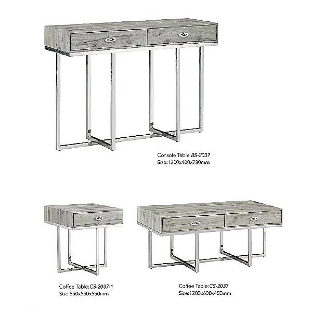 34765-BS-2037 Stainless Console Table