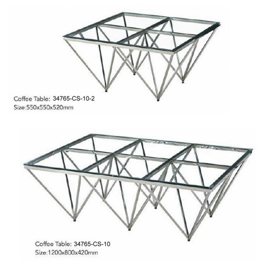 34765-CS-10 Stainless Coffee Table