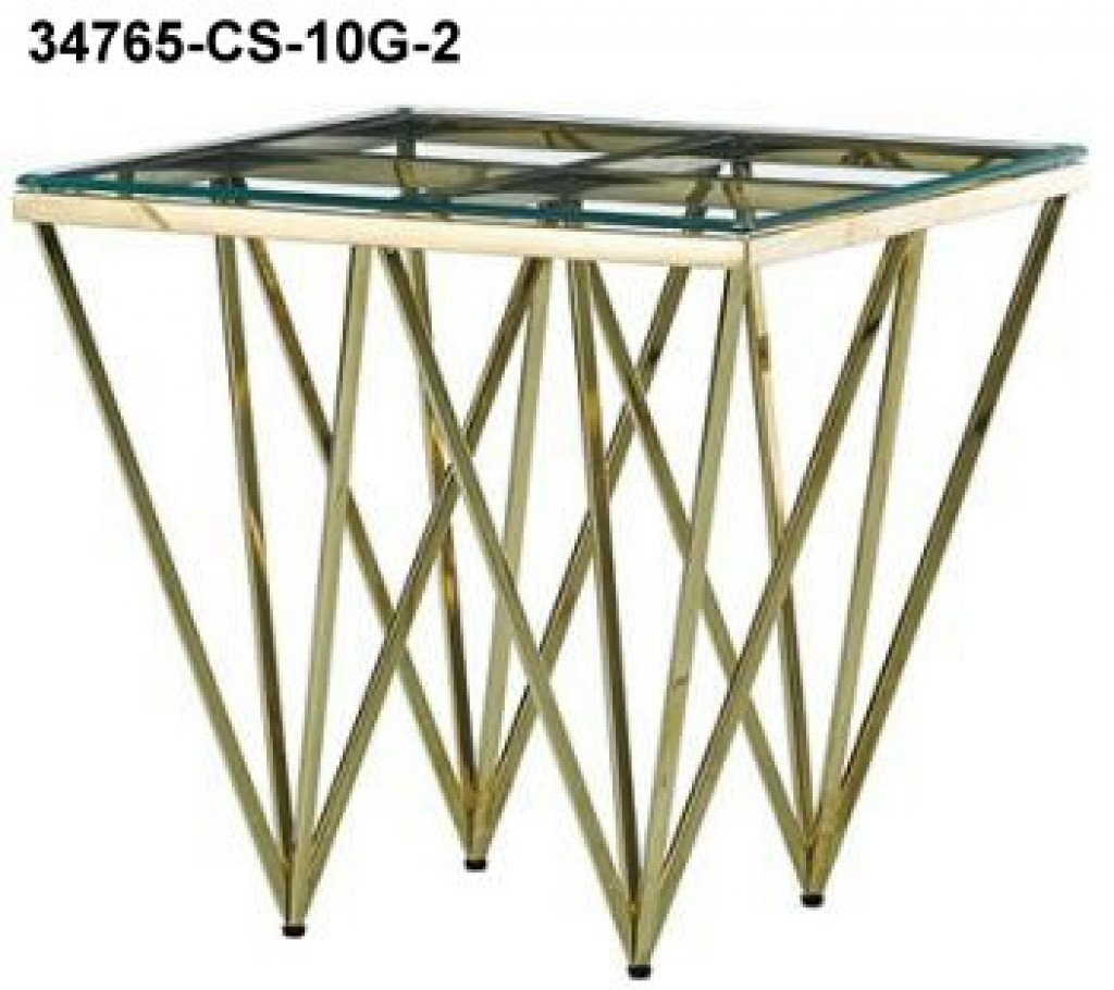 34765-CS-10G-2 stainless steel coffee table