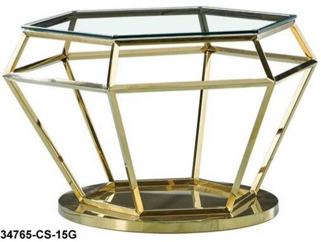 34765-CS-15G stainless steel coffee table