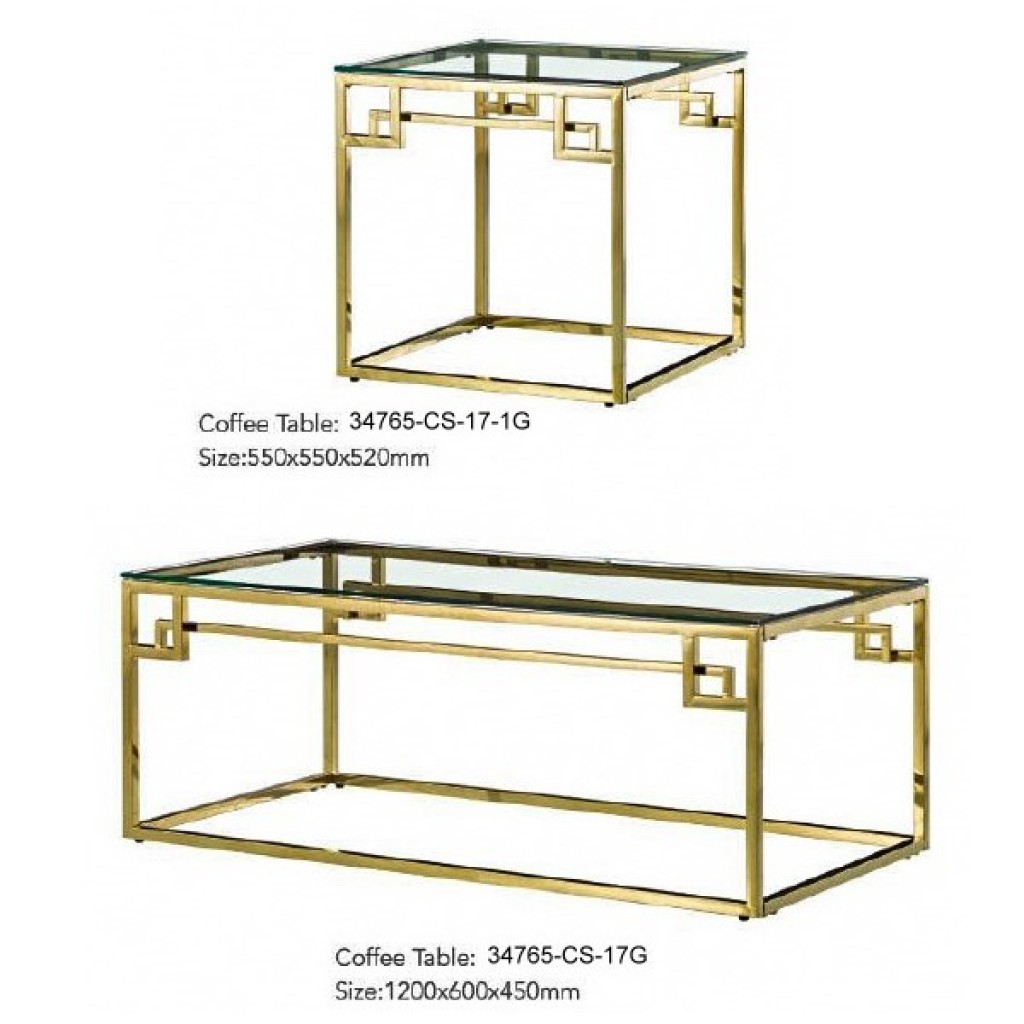 34765-CS-17G Stainless Coffee Table