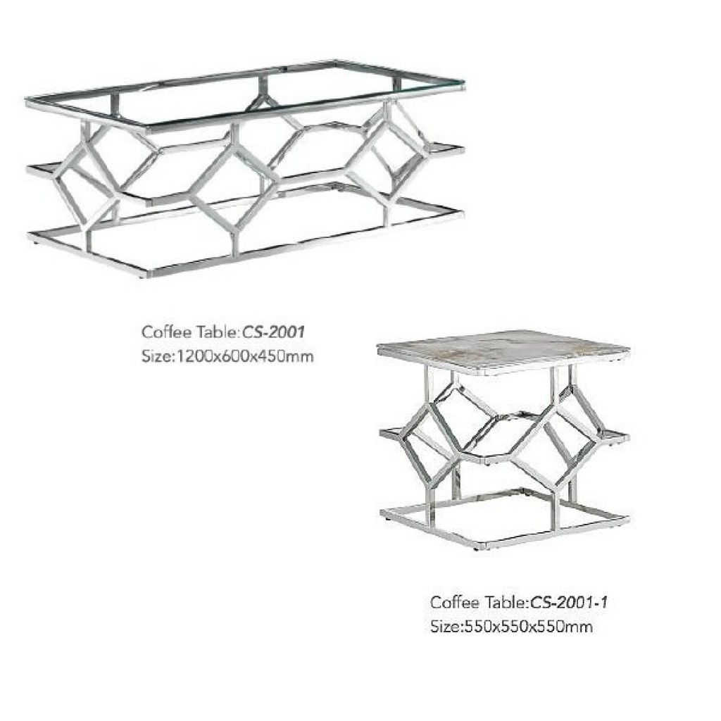 34765-CS-2001 Stainless Coffee Table