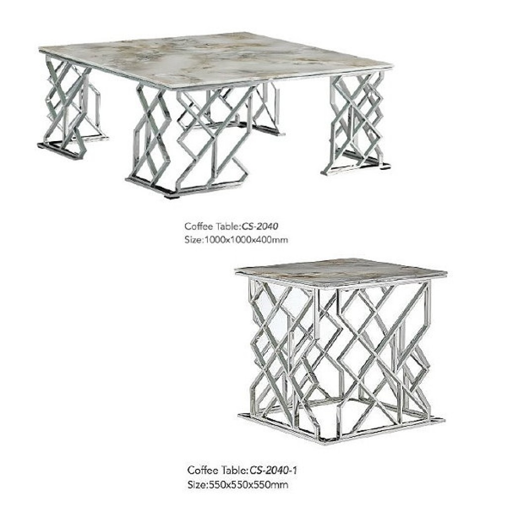 34765-CS-2040 Stainless Coffee Table