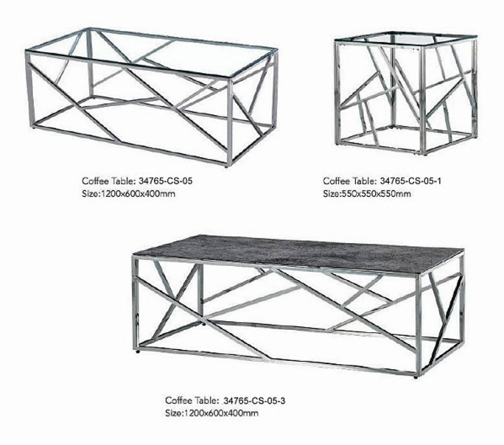 34765-CS-05 Stainless Coffee Table