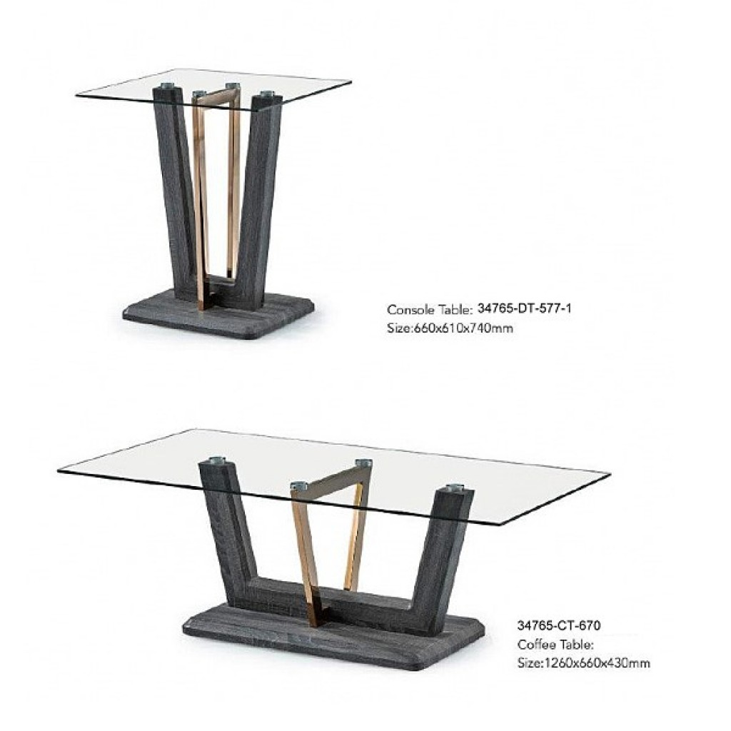 34765-DT-577-1 Stainless Console Table
