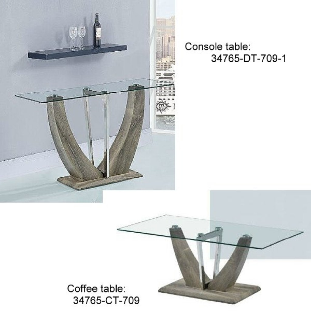 34765-DT-709 Stainless Console Table
