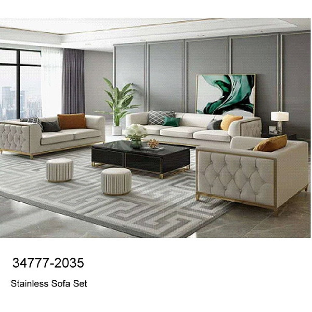 34777-2035 Stainless Steel Sofa Set