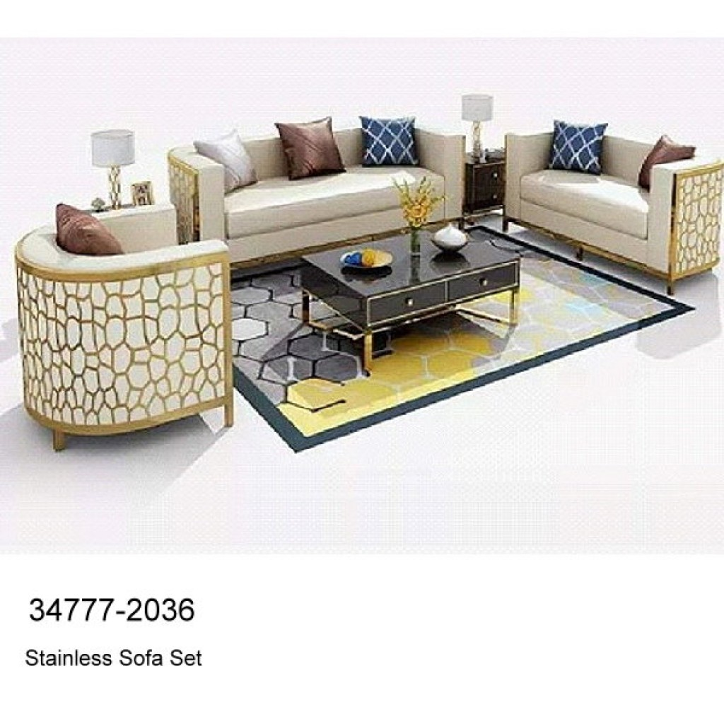 34777-2036 Stainless Steel Sofa Set