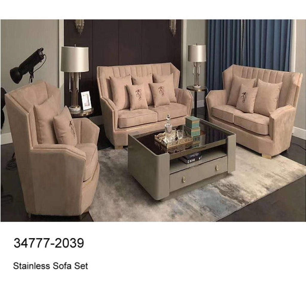 34777-2039 Stainless Steel Sofa Set