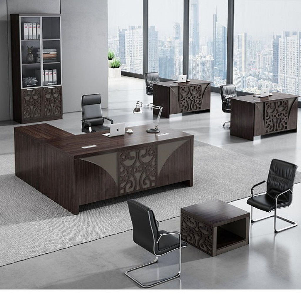 34946-8001 Acrylic Decoration of Wooden Office Set